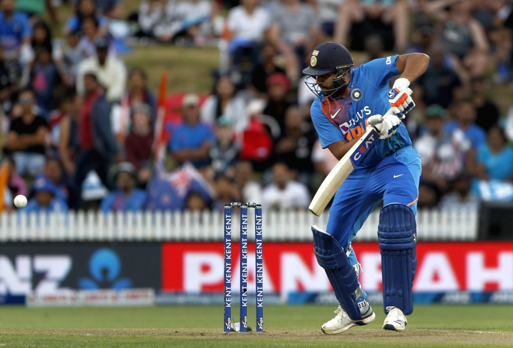 India's Rohit Sharma in action during the third T20I of the five-match rubber at Seddon Park in Hamilton, New Zealand on Jan 29, 2020. - Rohit Sharma