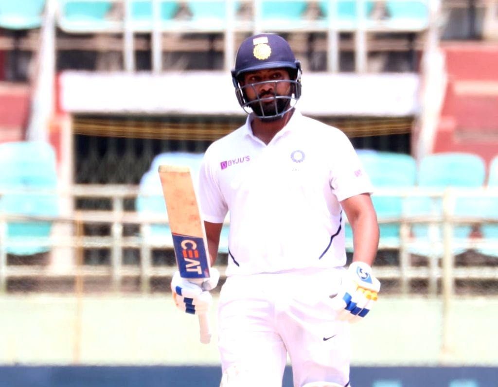 India's Rohit Sharma in action on Day 1 of the 1st Test match between India and South Africa at Dr. Y.S. Rajasekhara Reddy ACA-VDCA Cricket Stadium in Visakhapatnam on Oct 2, 2019. - Rohit Sharma