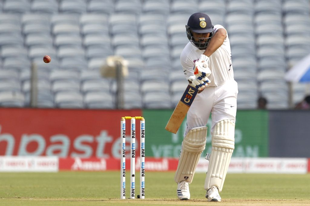 India's Rohit Sharma in action on Day 1 of the second Test match between India and South Africa at Maharashtra Cricket Association Stadium in Pune, on Oct 10, 2019. - Rohit Sharma