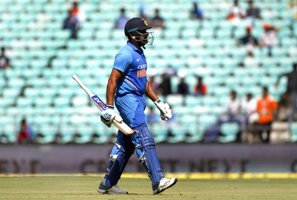 India's Rohit Sharma walks back to the pavilon after getting dismissed during the second ODI match between India and Australia at Vidarbha Cricket Association (VCA) Stadium, in Nagpur, on ... - Rohit Sharma