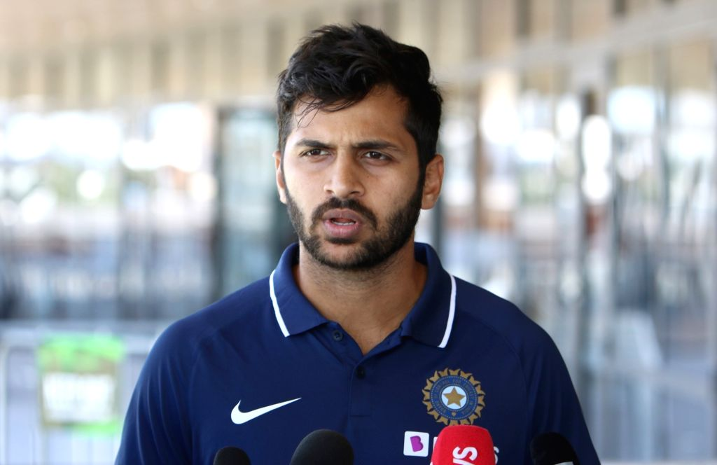 India's Shardul Thakur addresses a press conference ahead of the 3rd ODI against New Zealand, at the Bay Oval in Tauranga, New Zealand on Feb 10, 2020.