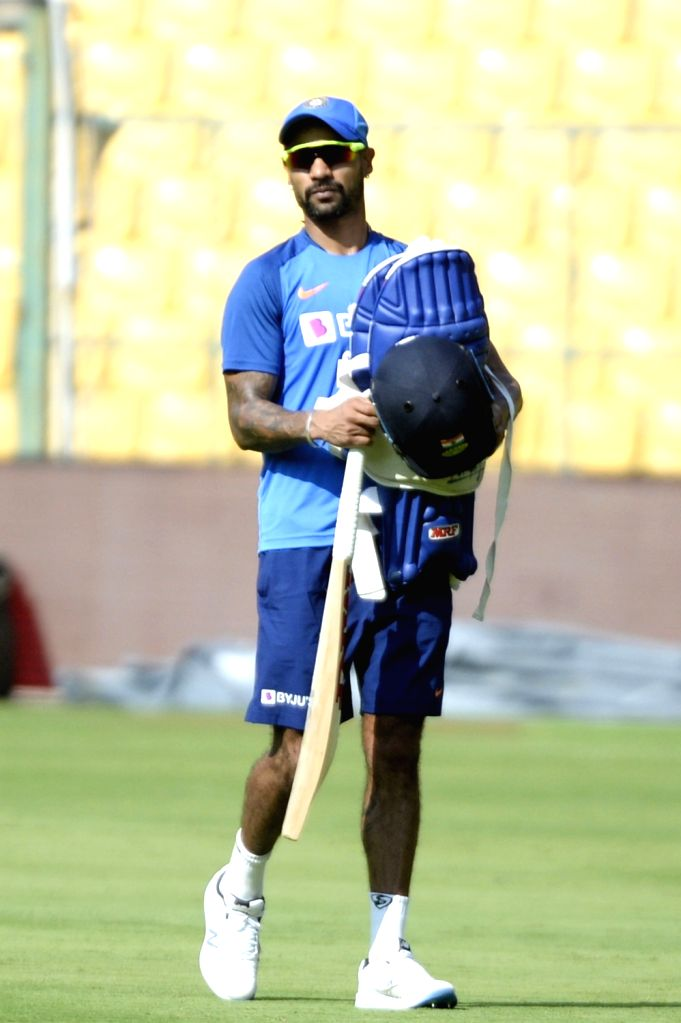 India's Shikhar Dhawan during a practice session ahead of the final T2oI match against South Africa at the M. Chinnaswamy Stadium, in Bengaluru on Sep 21, 2019. - Shikhar Dhawan