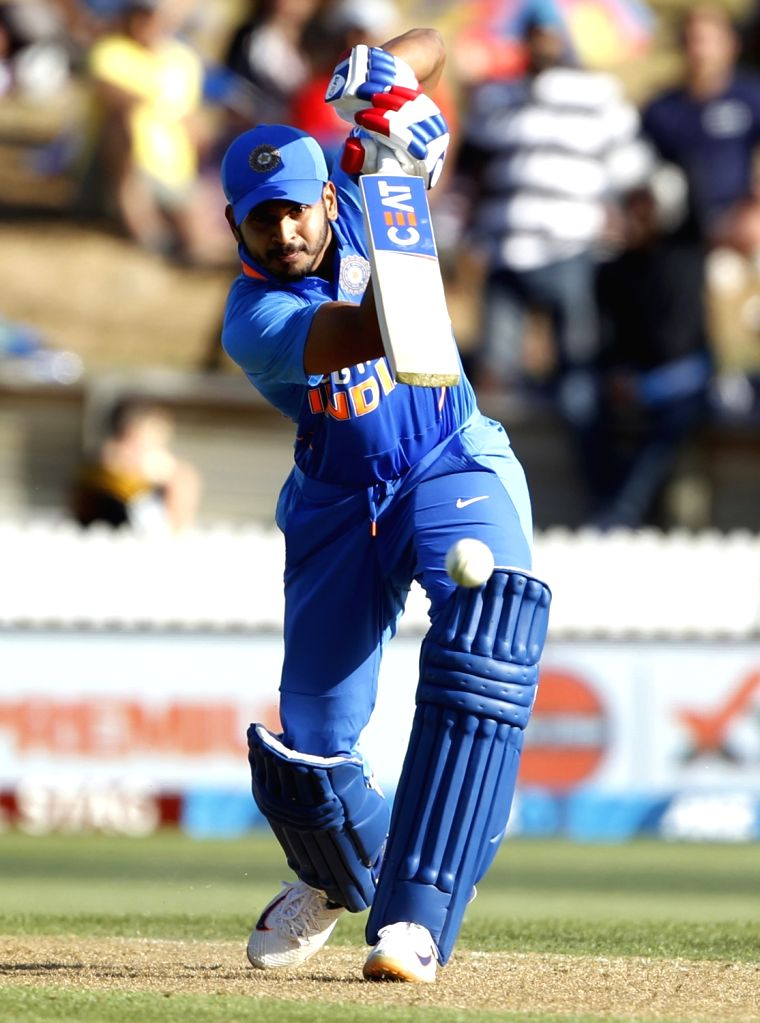India's Shreyas Iyer in action during the 1st ODI of the three-match series between India and New Zealand at the Seddon Park in Hamilton, New Zealand on Feb 5, 2020.