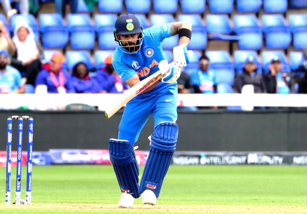 India's skipper Virat Kohli in action during the second warm-up match between India and Bangladesh at the Sophia Gardens in Cardiff, Wales on May 28, 2019. - Virat Kohli