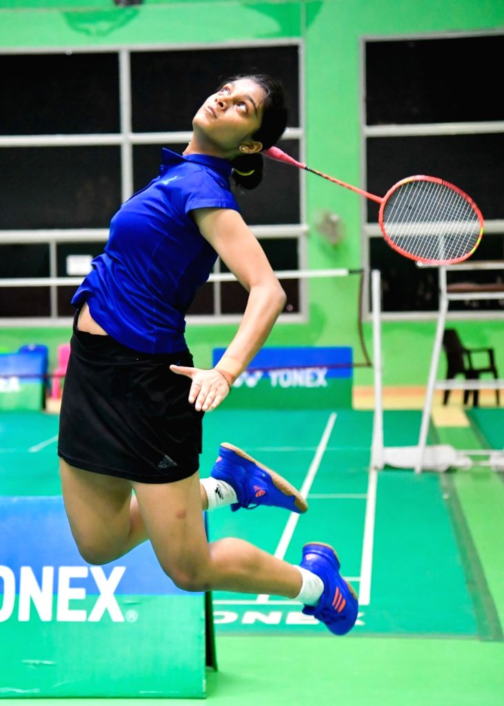 India's Tanisha Crasto on the first day of Asian Junior Badminton Championships Mixed Team event in New Delhi on July 20, 2019.