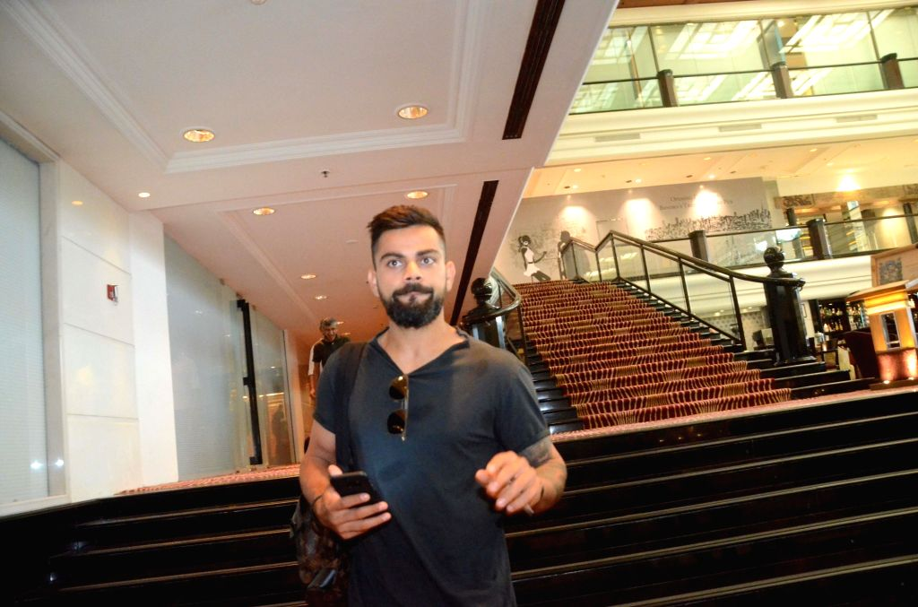 India`s Test captain Virat Kohli arrives to attend Board of Control for Cricket in India (BCCI) meeting to select team for three-match series against New Zealand starting from 22nd Sept, in ... - Virat Kohli