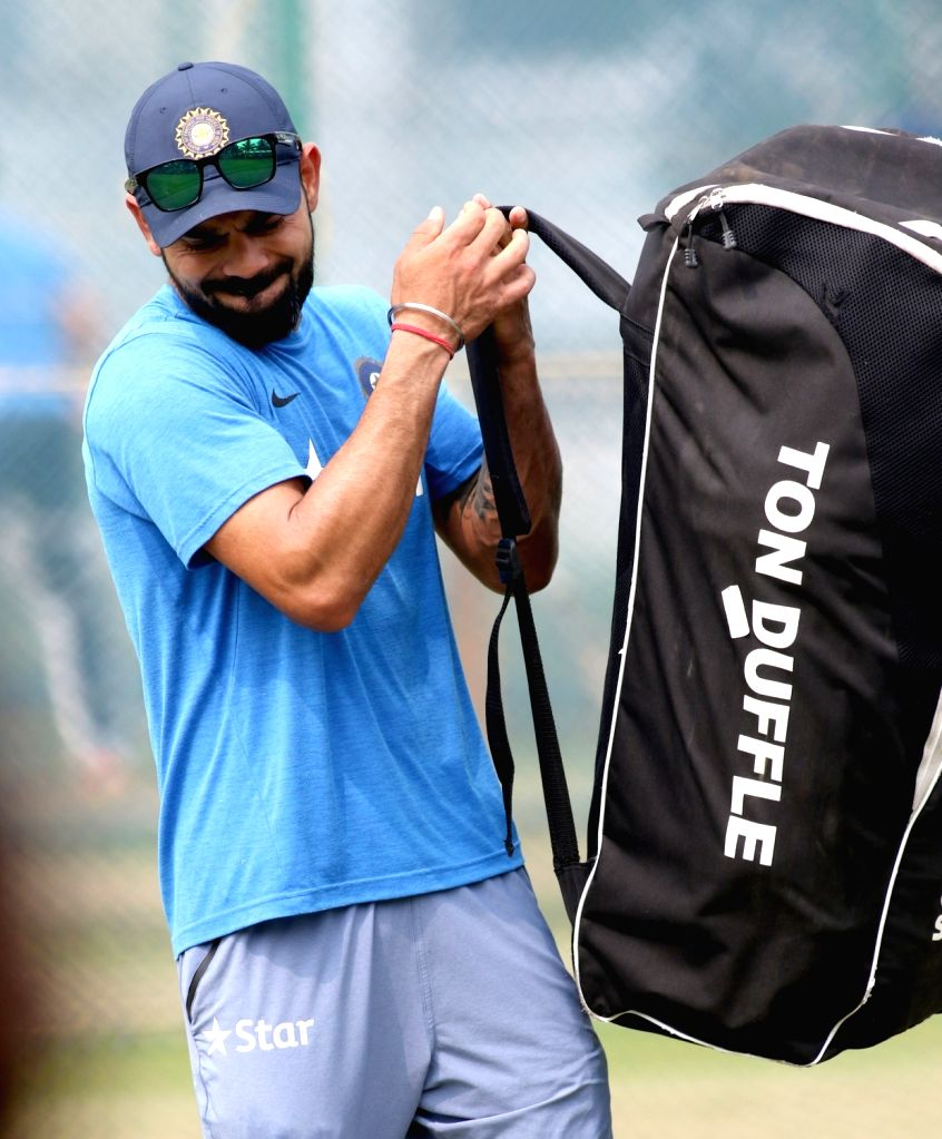 India's Test cricket captain Virat Kohli during a practice session in Visakhapatnam on Nov 16, 2016. - Virat Kohli