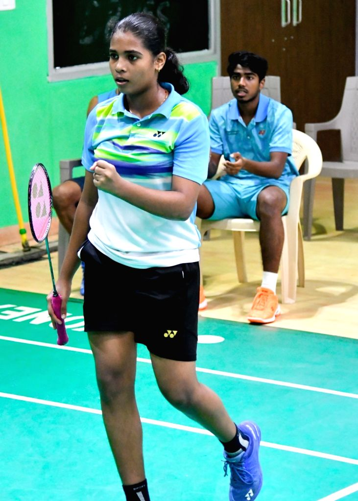 India's Treesa Jolly on the first day of Asian Junior Badminton Championships Mixed Team event in New Delhi on July 20, 2019.
