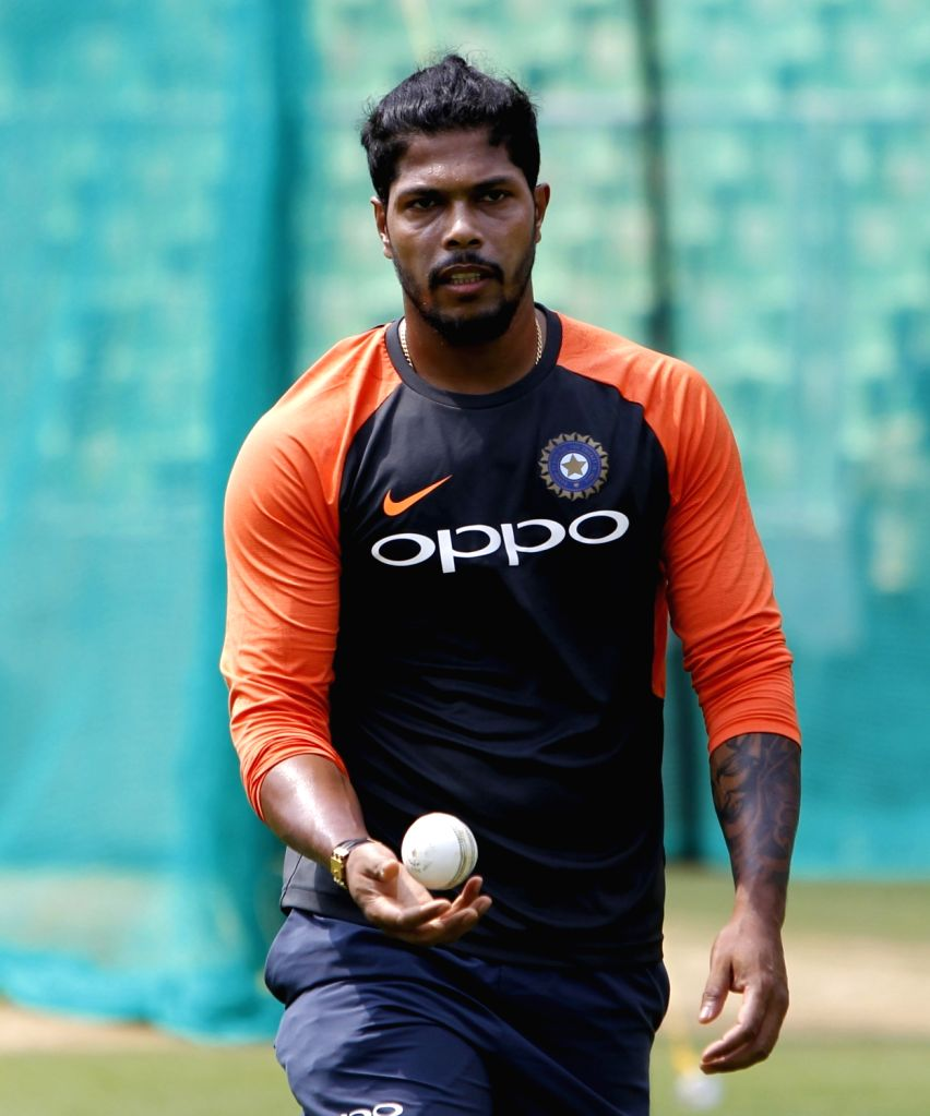India's Umesh Yadav during a practice session ahead of the fifth and final ODI match against West Indies in Thiruvananthapuram, on Oct 31, 2018. - Umesh Yadav