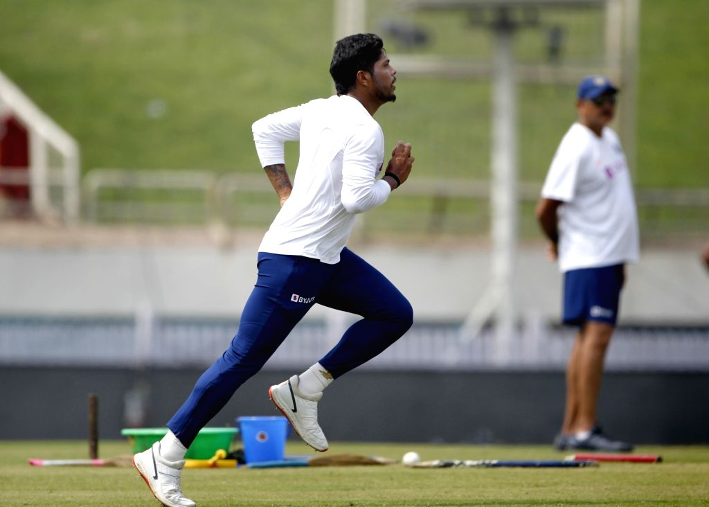 India's Umesh Yadav during a practice session ahead of the 3rd Test match against South Africa at JSCA International Stadium in Ranchi on Oct 18, 2019. - Umesh Yadav