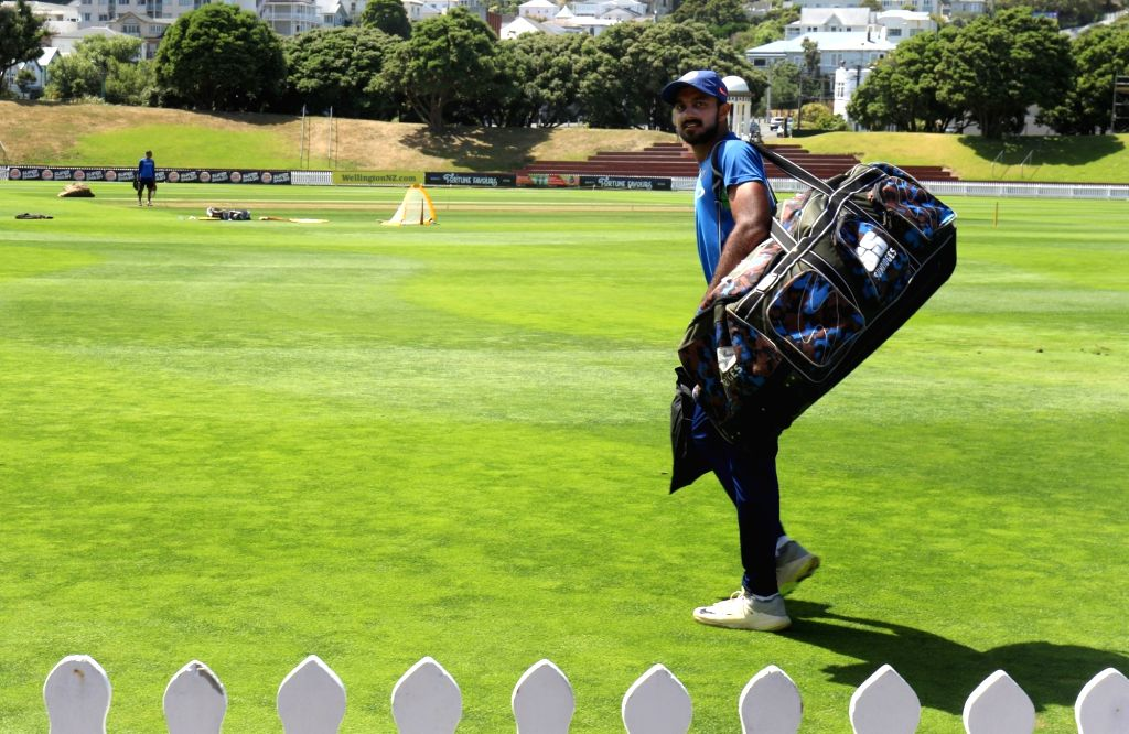 India's Vijay Shankar during a practice session at Basin Reserve cricket stadium in Wellington, New Zealand on Feb. 2, 2019.