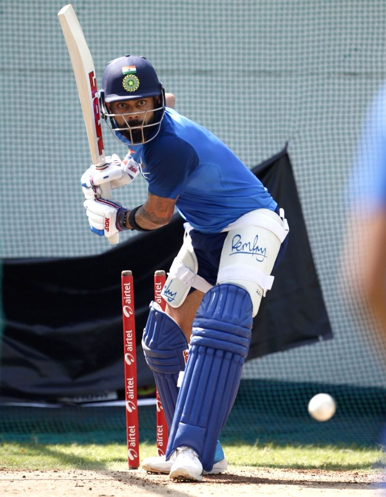 India's Virat Kohli during a practice session ahead of the 2nd ODI match against Australia, at Vidarbha Cricket Association (VCA) Stadium, in Nagpur, on March 4, 2019. - Virat Kohli