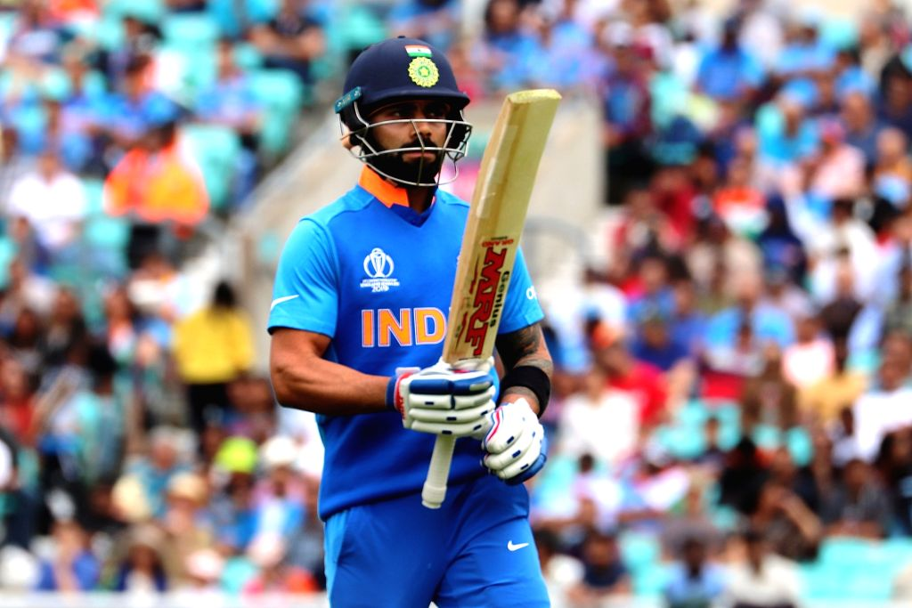 India's Virat Kohli during the first warm-up match between India and New Zealand at the Kennington Oval,  London on May 25, 2019. - Virat Kohli