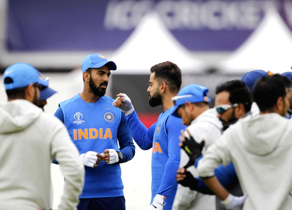 India's Virat Kohli in during practice session ahead of World Cup 2019 match against Pakistan in Manchester, England on June 15, 2019. - Virat Kohli
