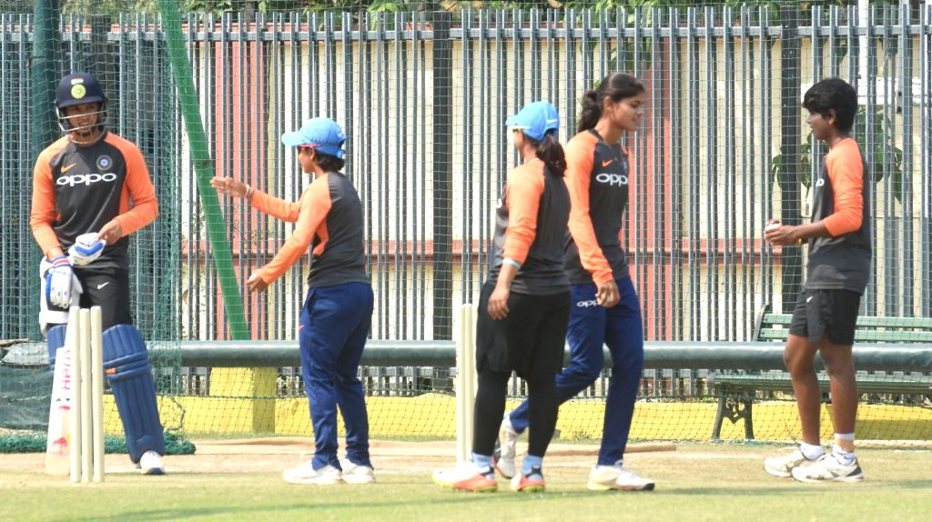 India's women cricket team players during a practice session ahead of the women's T20 cricket match against England, at Barshapara Cricket Stadium, in Guwahati on March 2, 2019.
