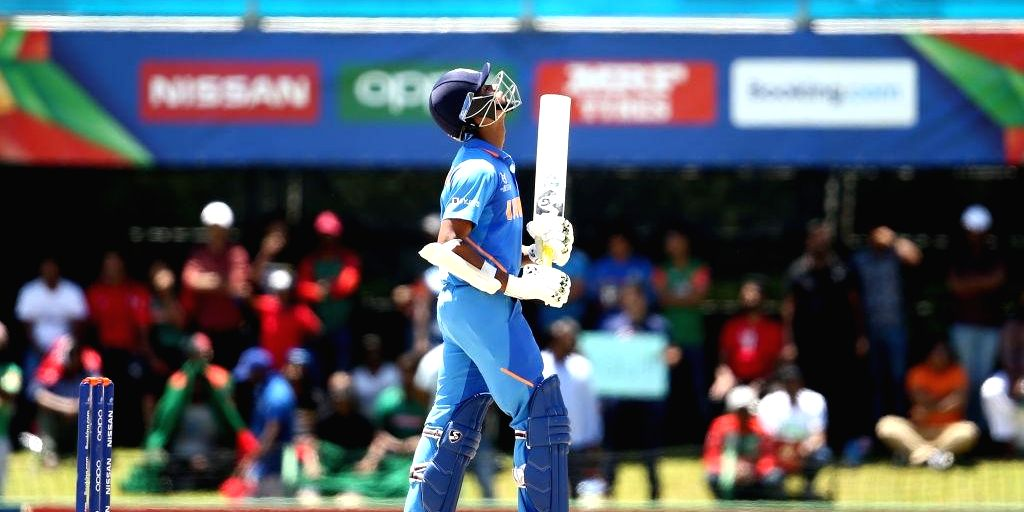 India's Yashasvi Jaiswal during the ICC U19 World Cup final between India and Bangladesh, in Potchefstroom, South Africa on Feb 9, 2020.