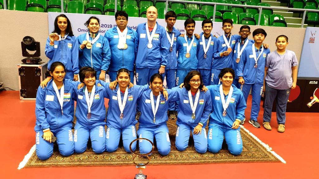 India's young paddlers continued their medal rush on the world stage, grabbing as many as 7 medals, including a gold and a silver, in the Oman Junior and Cadet Open in Muscat late on Friday night. The India B team in the Cadet Girls' competition