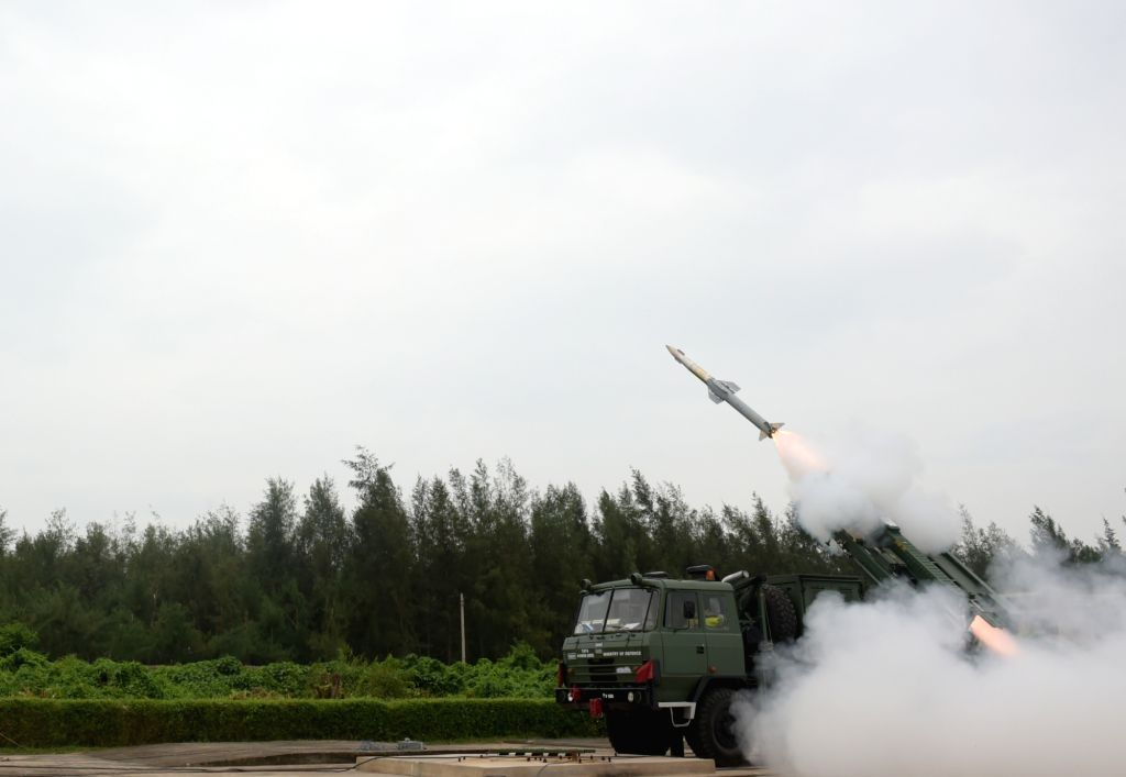 India successfully test-fired short-range Quick Reaction Surface to Air Missile (QRSAM) off Odisha coast on Tuesday. (Photo: IANS/DPRO)
