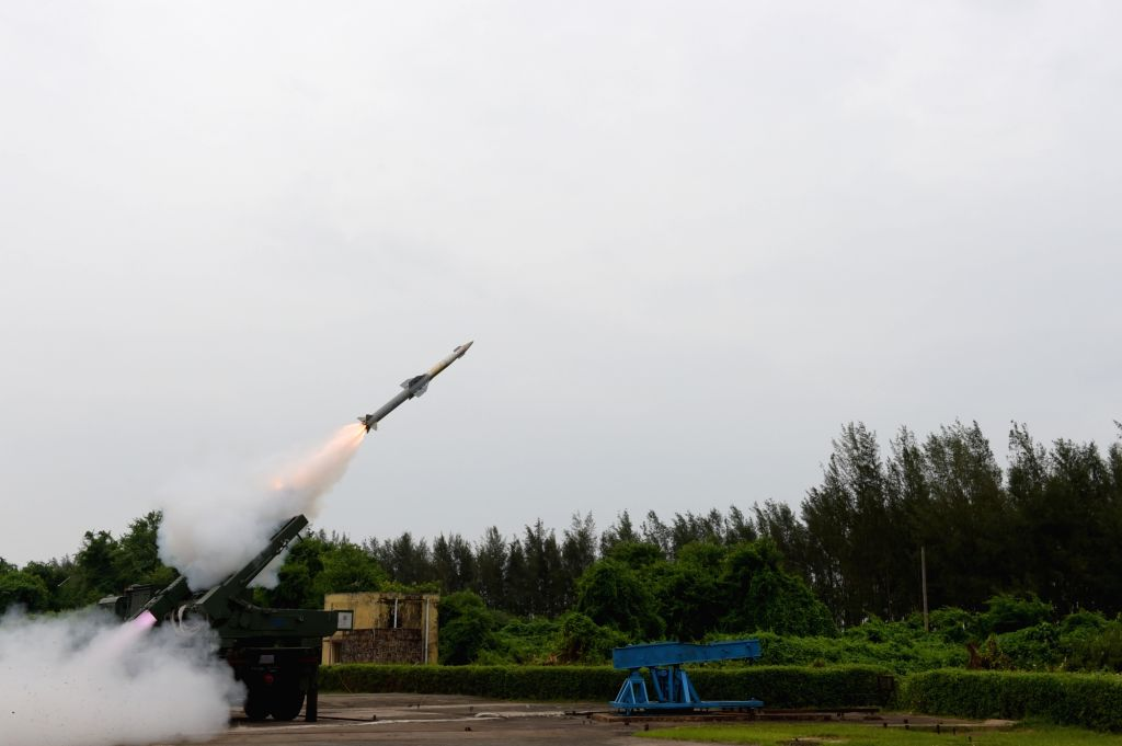 India test-fires indigenously developed short range and Quick Reaction Surface to Air missile (QRSAM) from a truck-mounted canister launcher in Chandipur along the Odisha coast on July 3, ...