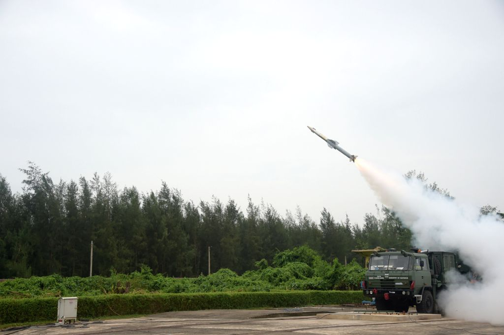 India test-fires quick reaction missile