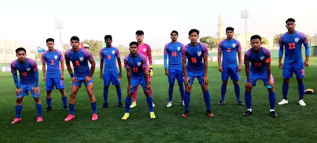 India U-16 team beat UAE 1-0 in football friendly.(photo:twitter)