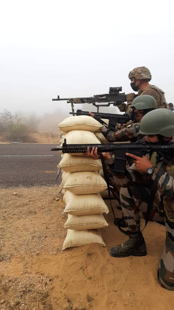 India, US armies hold joint drill with focus on counter terrorism.