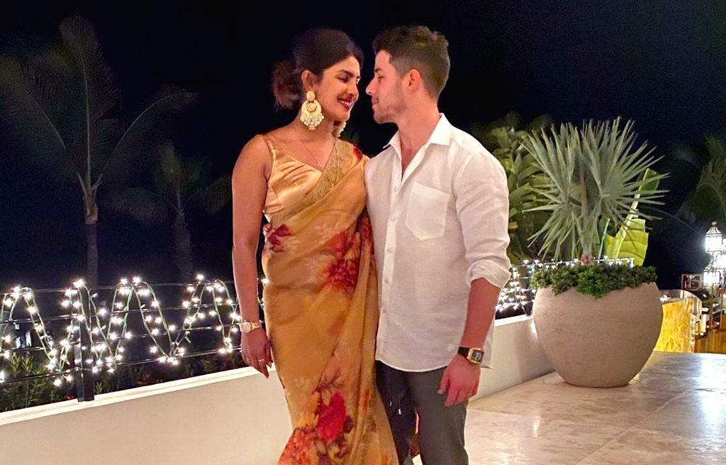 Indian actress Priyanka Chopra Jonas and American pop singer Nick Jonas are celebrating their first Diwali together as a married couple. - Priyanka Chopra Jonas