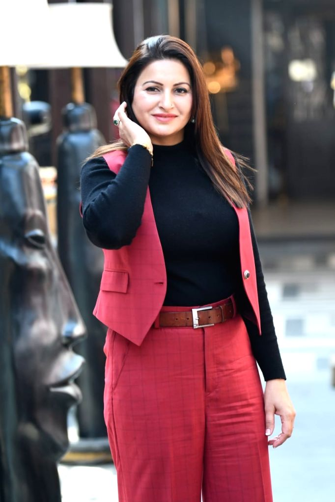 Indian actress Sonali Phogat who is Bigg Boss 14 contestant  addressing a press conference  on Jan 27, 2021. - Sonali Phogat