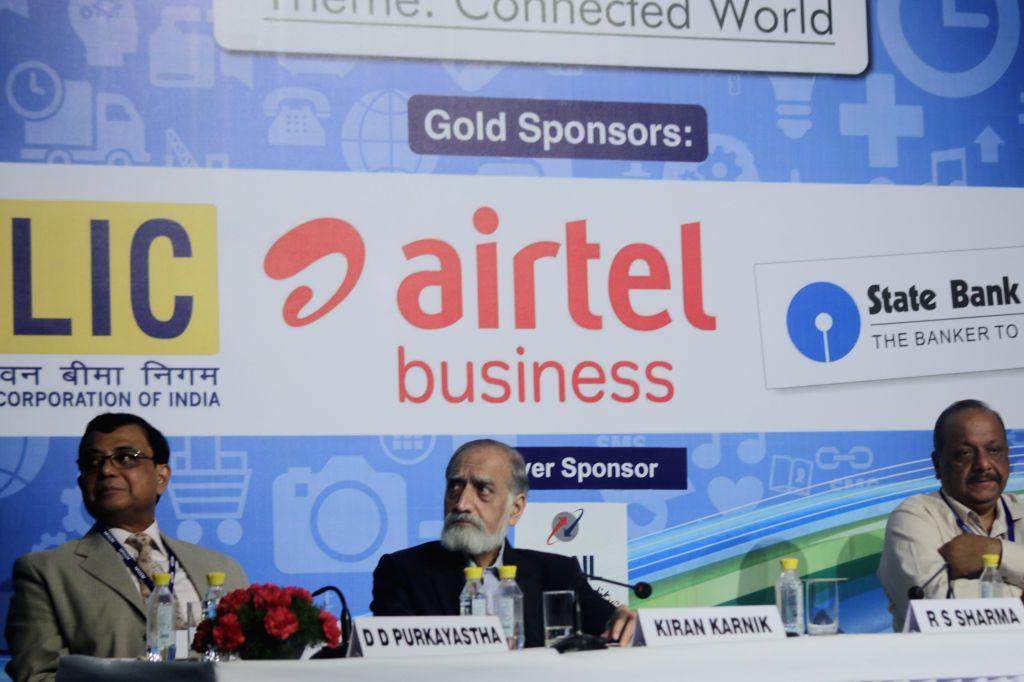 Indian administrator Kiran Karnik during Infocom 2015 in New Delhi, on July 16, 2015.