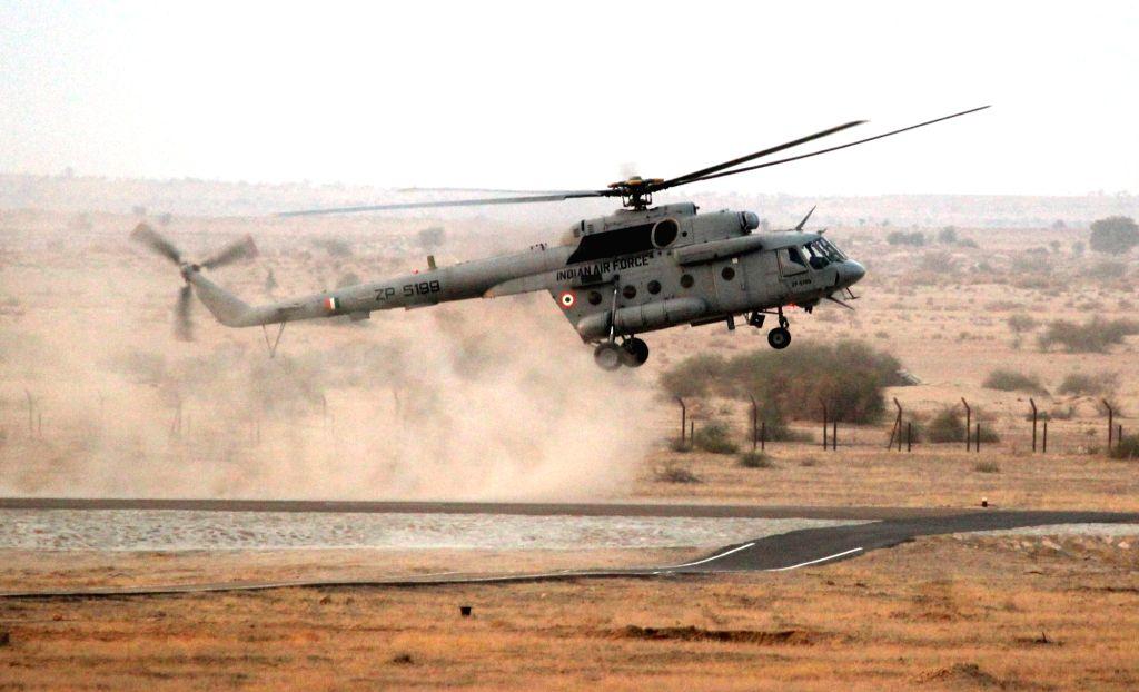 "Indian Air Force's ""Vayu Shakti exercise"" underway in Pokhran, Rajasthan on Feb 16, 2019."