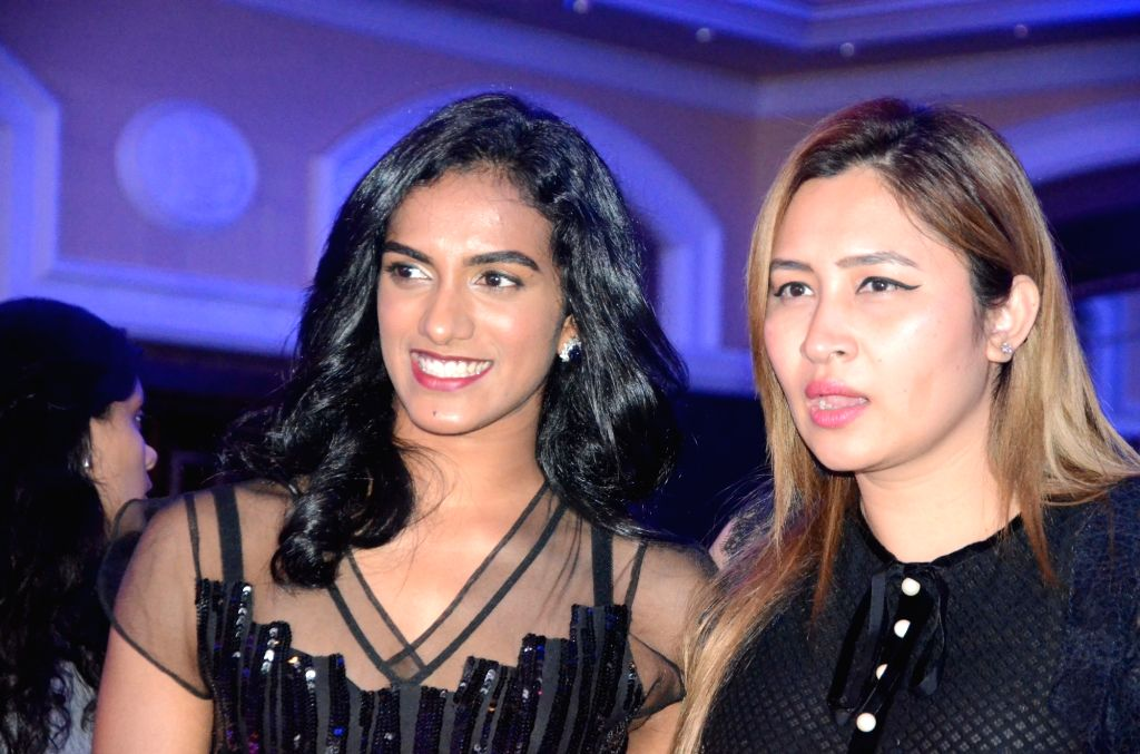 Indian badminton players PV Sindhu and Jwala Gutta during Sports Illustrated award ceremony in Mumbai, on July 6, 2017.