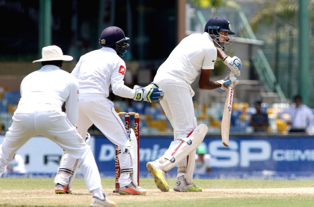 Indian batsman Ravichandran Ashwin bats during the second cricket test match between India and Sri Lanka in Colombo, Sri Lanka, on Aug. 4, 2017. - Ravichandran Ashwin