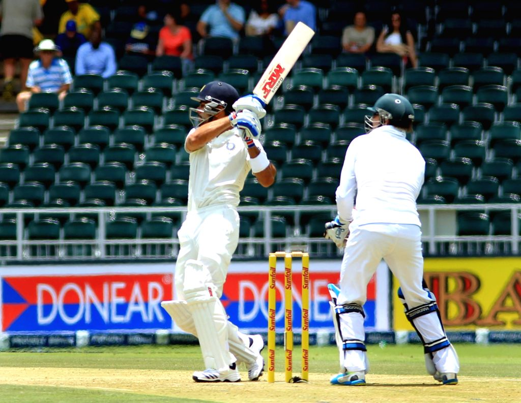 Indian batsman Virat Kohli in action during the 1st Day of the First Test match between India and South Africa played at New Wanderers Stadium in Johannesburg on Dec.18, 2013. - Virat Kohli