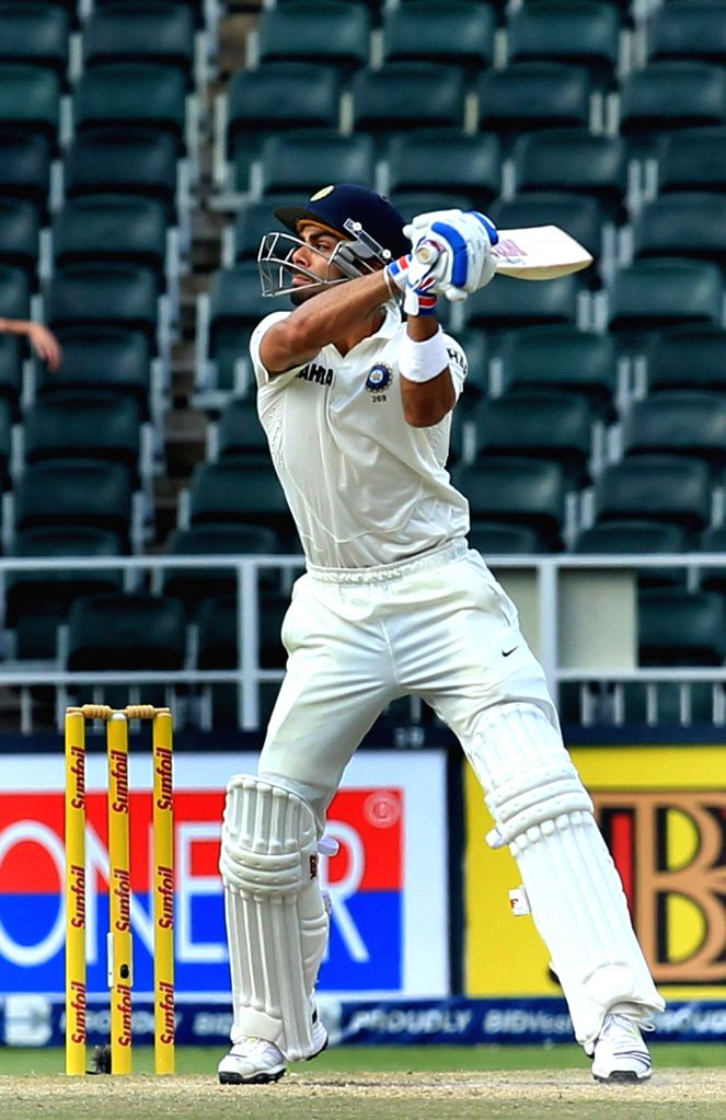 Indian batsman Virat Kohli in action during the 3rd Day of the First Test match between India and South Africa played at New Wanderers Stadium in Johannesburg on Dec.20, 2013. - Virat Kohli