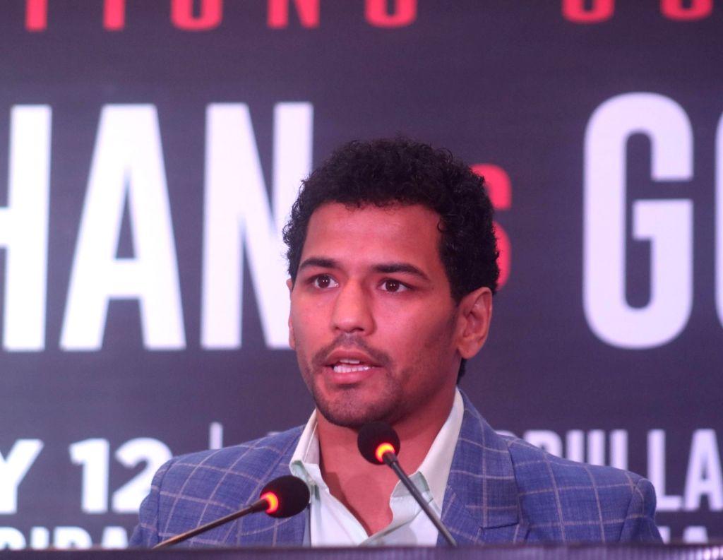 Indian boxer Neeraj Goyat. (Photo: IANS)