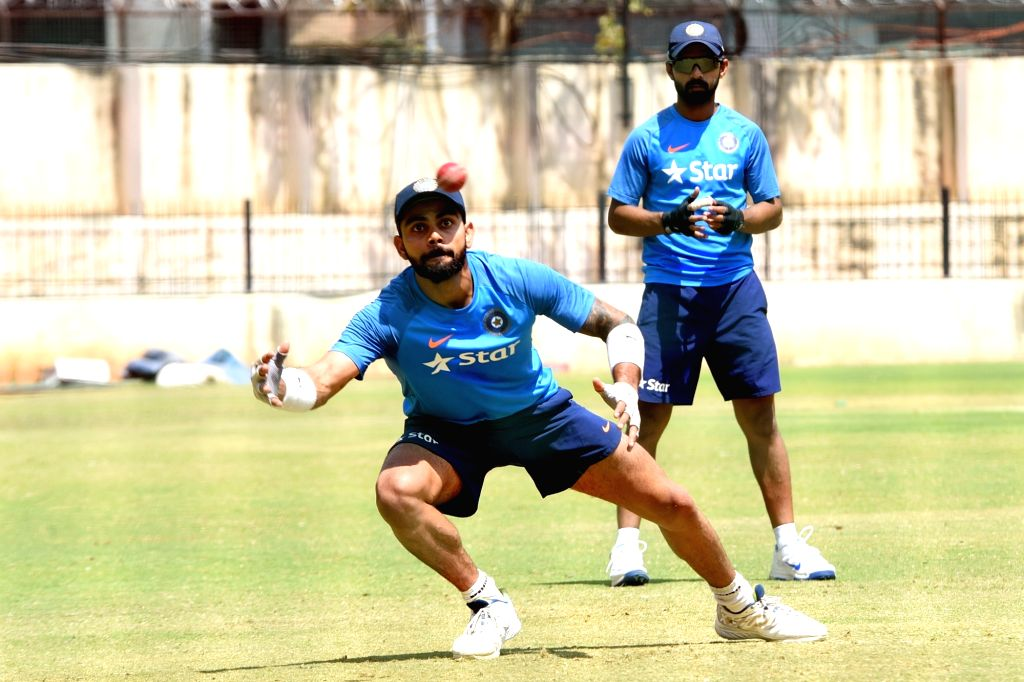 Indian captain Virat Kohli during a practice session ahead of the second test match between India and Australia in Bengaluru on March 1, 2017. - Virat Kohli