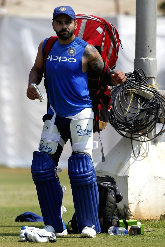 Indian captain Virat Kohli during a practice session ahead of the 1st T20I match against Australia at ACA-VDCA Cricket Stadium in Visakhapatnam on Feb 23, 2019. - Virat Kohli