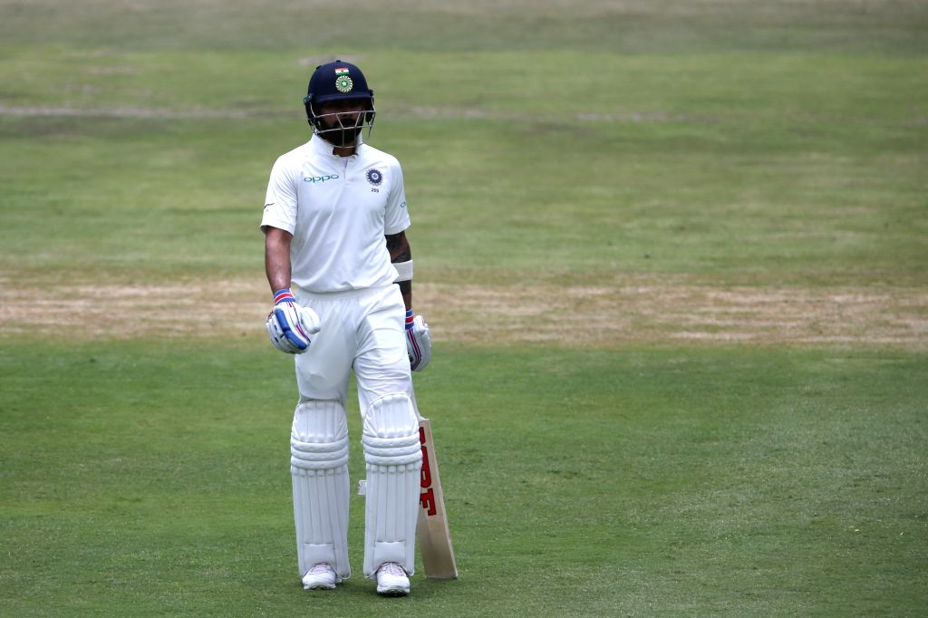 Indian Captain Virat Kohli walks off for the lunch break during Day 3 of the third Test match between South Africa and India at the Wanderers Stadium in Johannesburg, South Africa on ... - Virat Kohli
