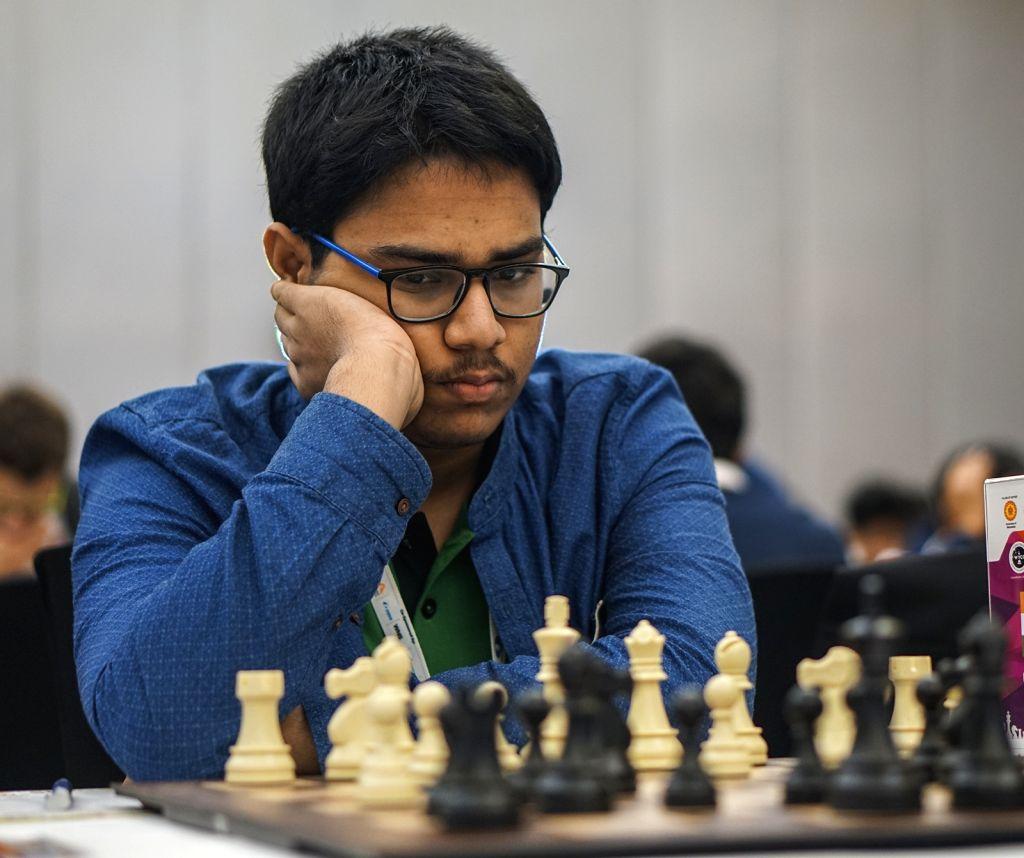 Indian chess player Aronyak Ghosh in action during World Youth Chess Championship 2019 in Mumbai on Oct 10, 2019. - Aronyak Ghosh