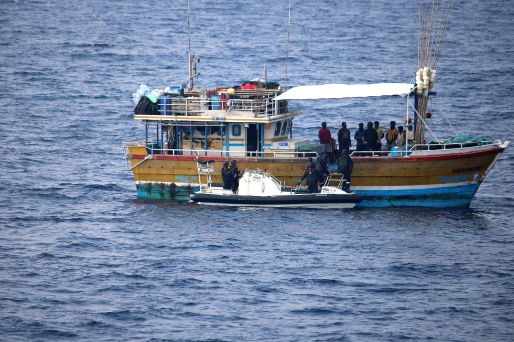 Indian Coast Guard catches Sri Lankan ship for drug trafficking