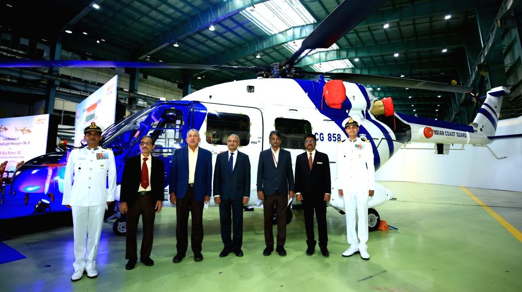 Indian Coast Guard inducts HAL???s 3 Dhruv helicopters