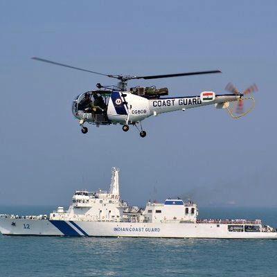 Indian Coast Guard tows drifting oil tanker to safety.