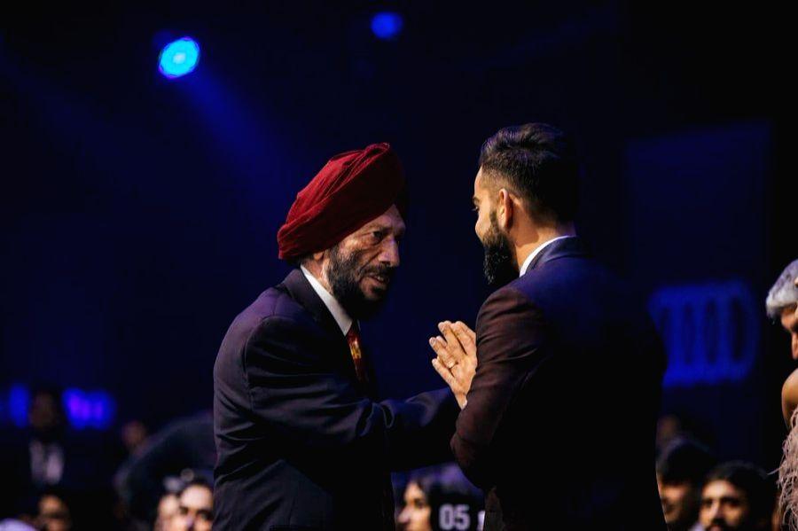 Indian cricket captain Kohli condoles the death of Milkha Singh.(photo : Virat Twitter) - Kohli and Milkha Singh