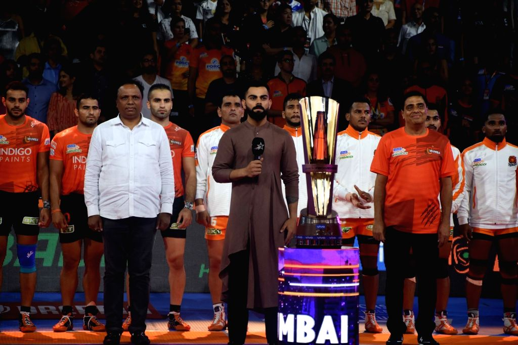Indian Cricket Captain Virat Kohli at the opening ceremony of the Mumbai leg of Pro Kabaddi League Season 7, in Mumbai on July 27, 2019. - Virat Kohli