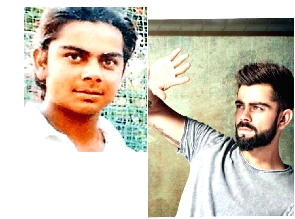 Indian cricket captain Virat Kohli's throwback moment on Twitter has set off a buzz, with fans comparing his hairstyle from the younger days with Salman Khans distinct hairdo in the hit movie ... - Virat Kohli