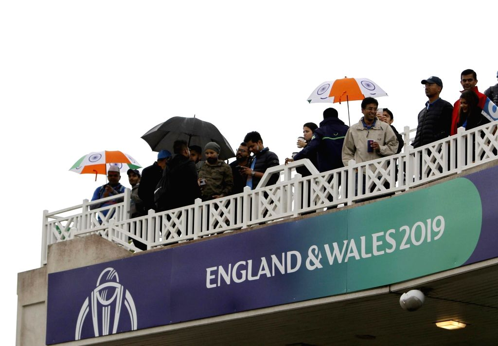 Indian cricket fans at Trent Bridge ahead of the 18th Match of World Cup 2019 between India and New Zealand that has been delayed due to rains in Nottingham, England on June 13, 2019.