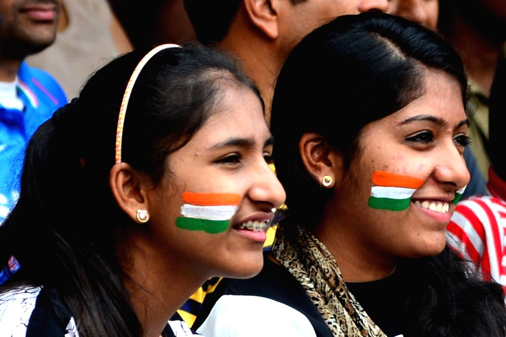 Indian cricket fans during the third day of the second test match between India and Australia at M. Chinnaswamy Stadium in Bengaluru on March 6, 2017. (Photo: IANS)