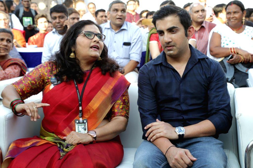 "Indian cricketer Gautam Gambhir at the ""7th Hijra Habba"" programme, in New Delhi on Sept 11, 2018."