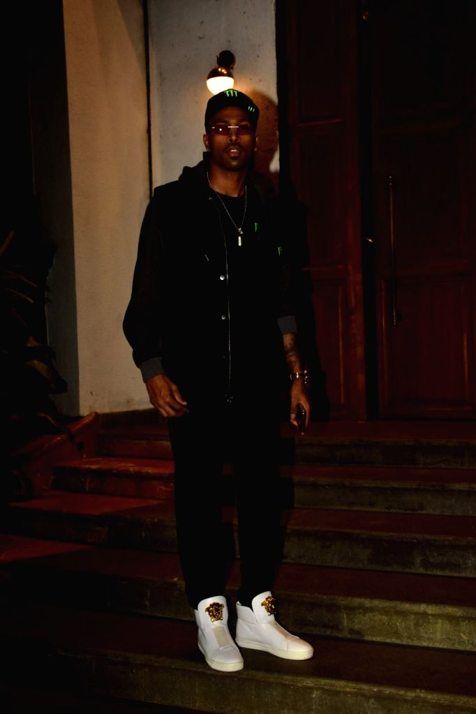 Indian cricketer Hardik Pandya seen at a Bandra restaurant in Mumbai on Nov 12, 2019.