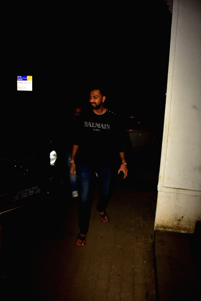 Indian cricketer Krunal Pandya seen at a Bandra restaurant in Mumbai on Nov 12, 2019.
